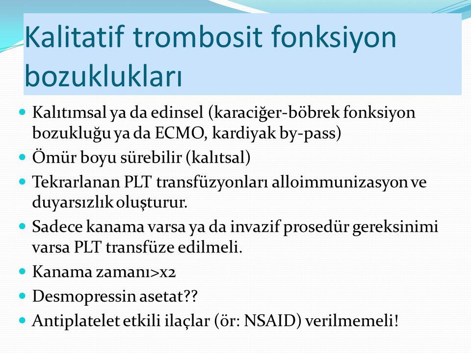 Kalitatif trombosit fonksiyon bozuklukları