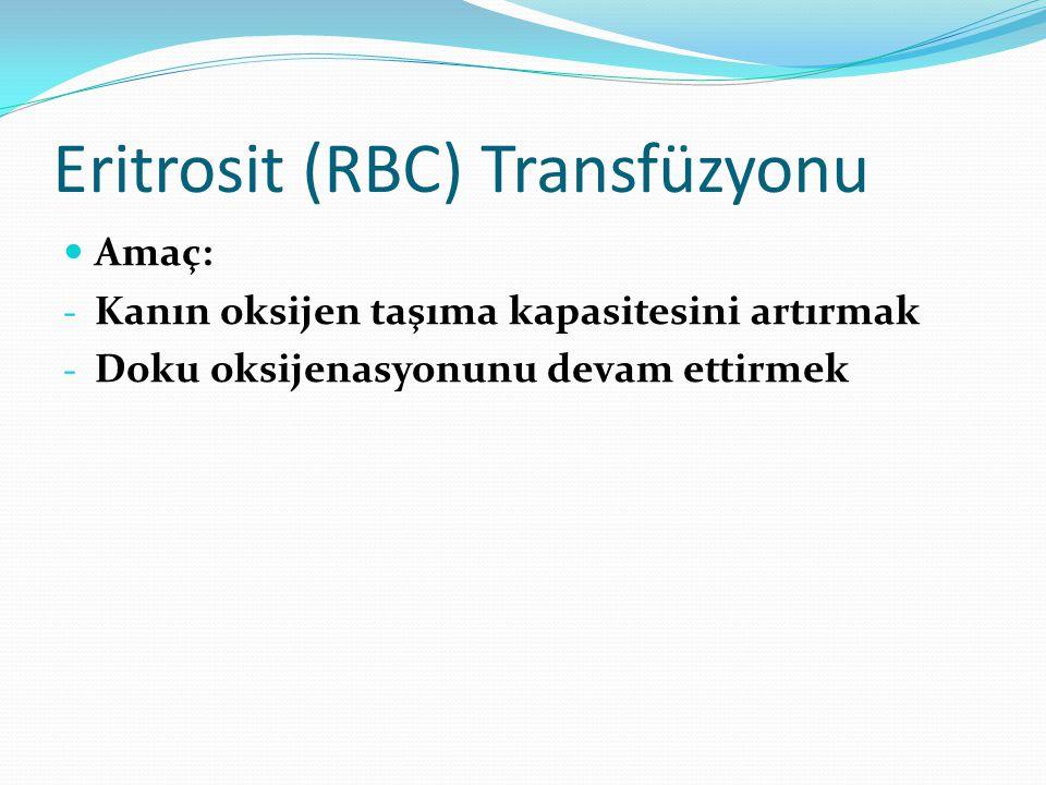 Eritrosit (RBC) Transfüzyonu
