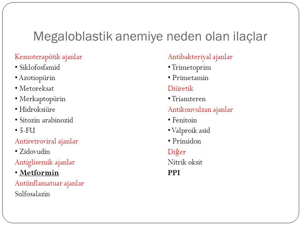 Megaloblastik anemiye neden olan ilaçlar
