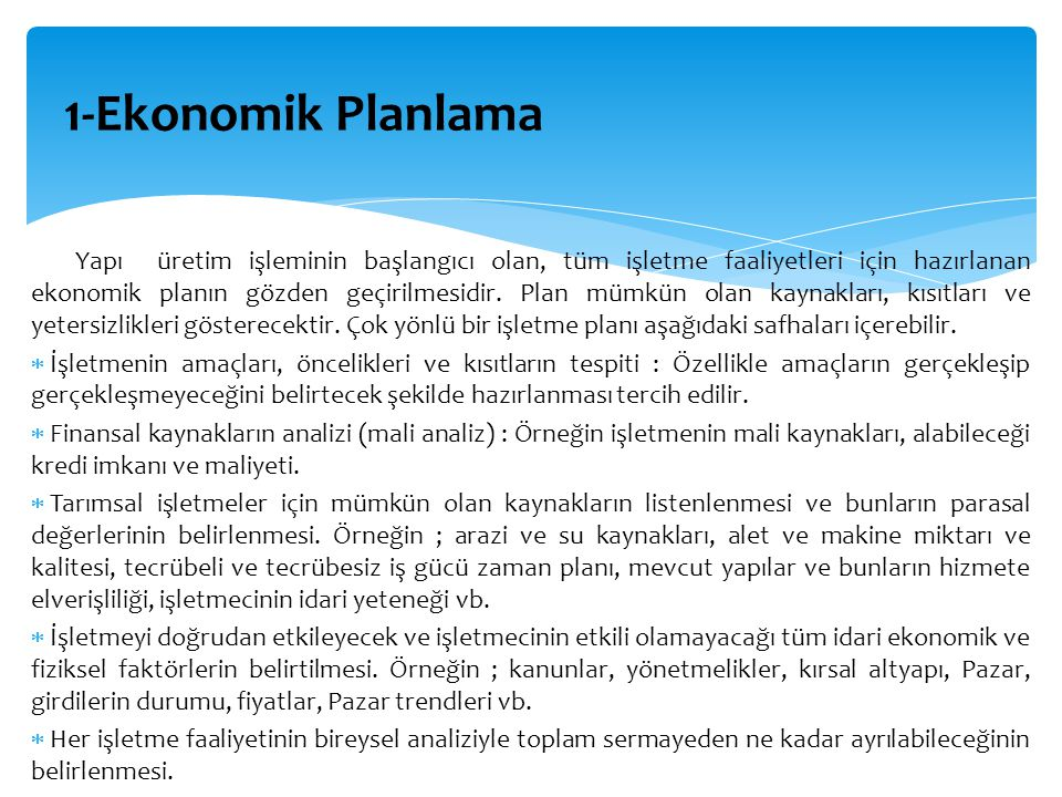 1-Ekonomik Planlama