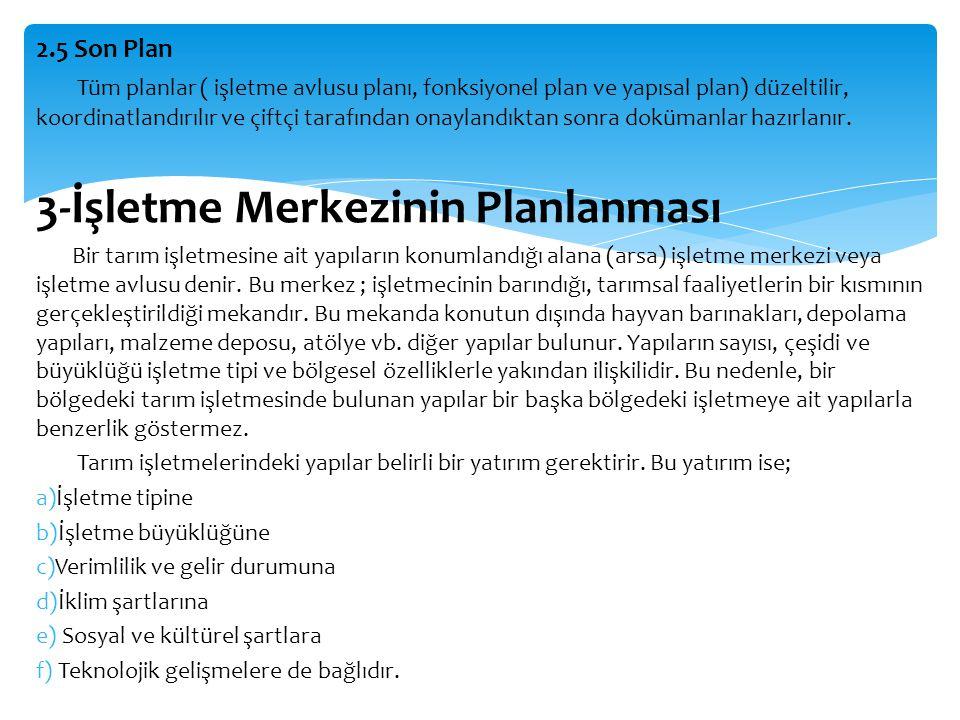 3-İşletme Merkezinin Planlanması