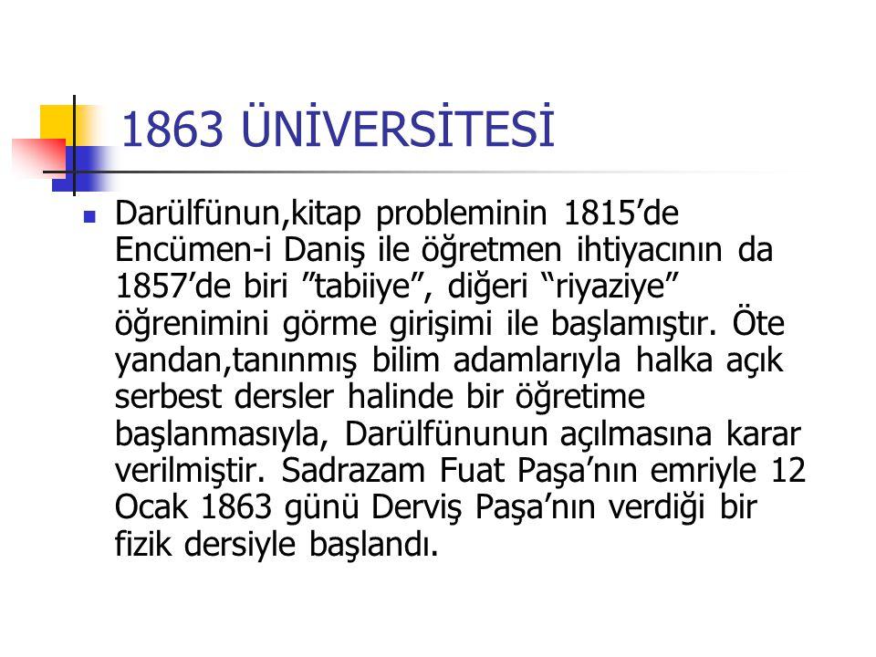 1863 ÜNİVERSİTESİ