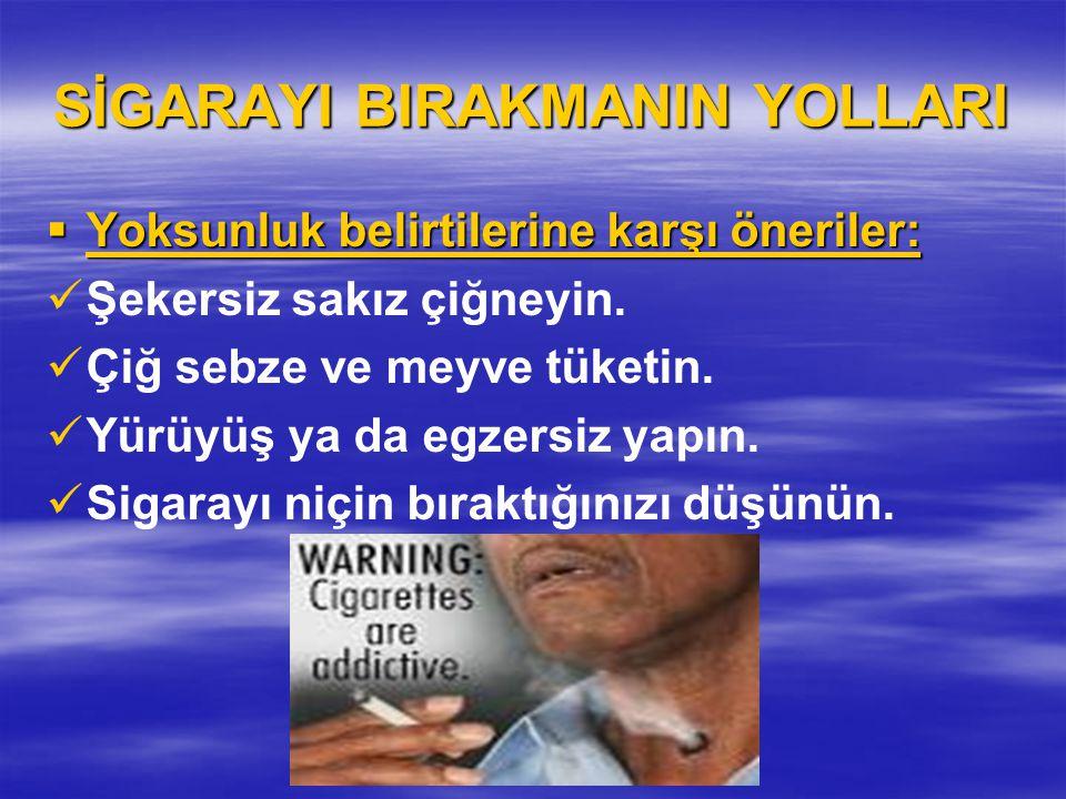 SİGARAYI BIRAKMANIN YOLLARI
