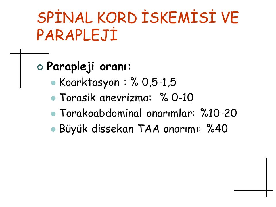 SPİNAL KORD İSKEMİSİ VE PARAPLEJİ