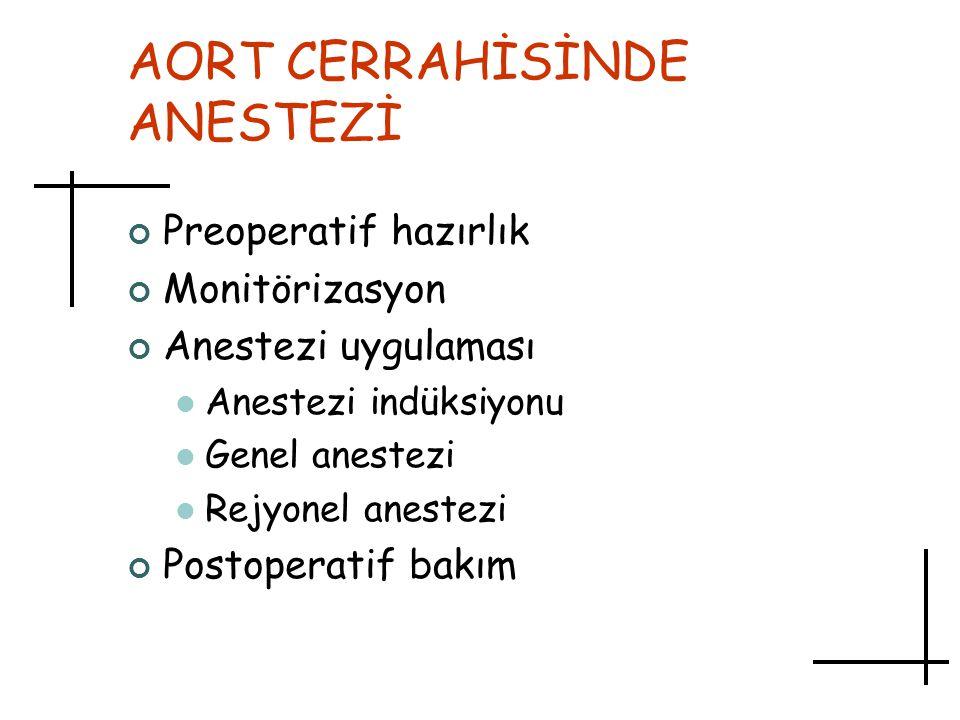 AORT CERRAHİSİNDE ANESTEZİ