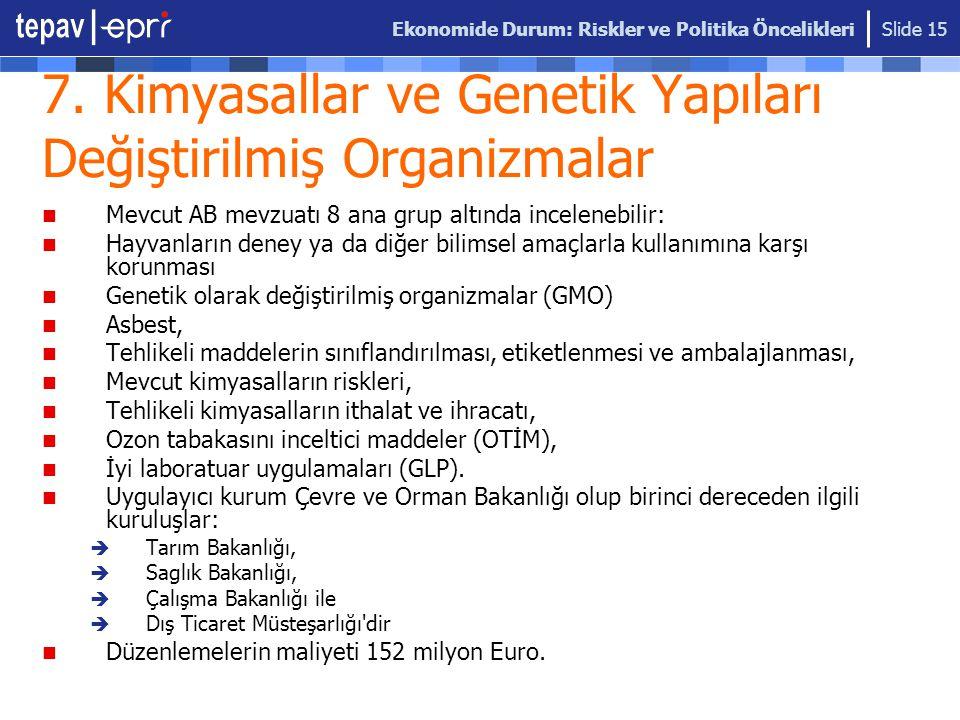 7. Kimyasallar ve Genetik Yapıları Değiştirilmiş Organizmalar