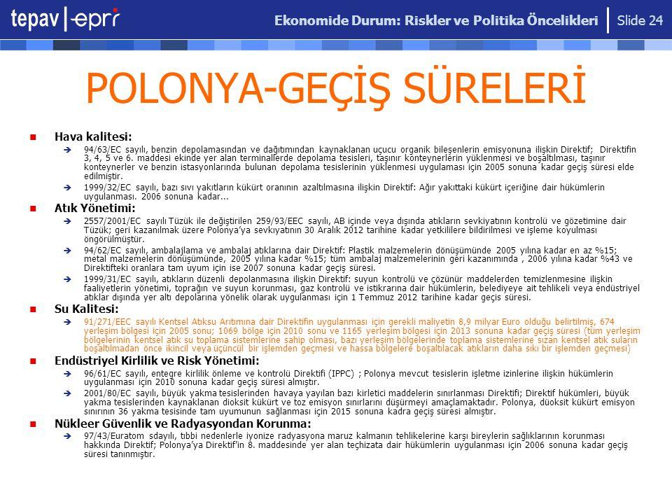 POLONYA-GEÇİŞ SÜRELERİ