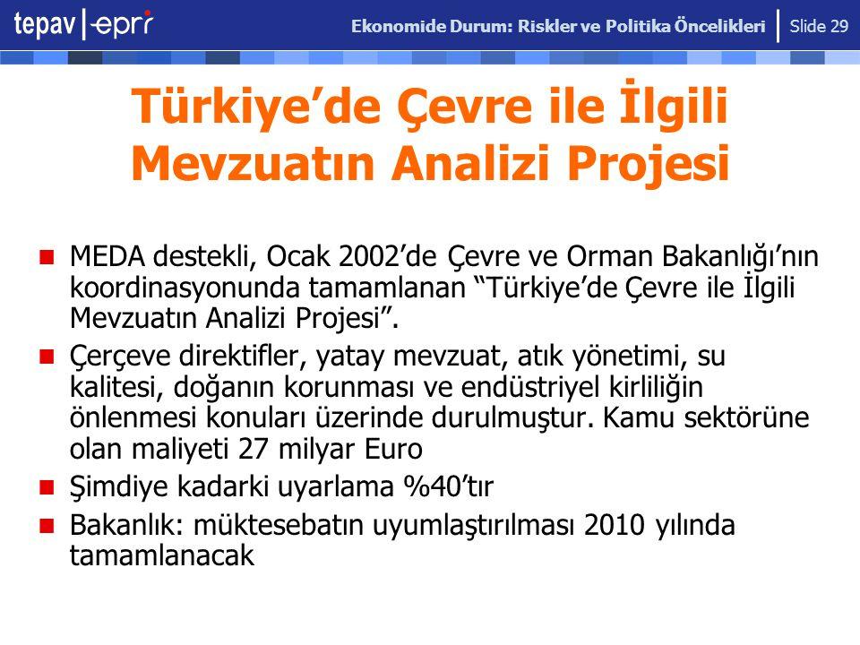 Türkiye'de Çevre ile İlgili Mevzuatın Analizi Projesi