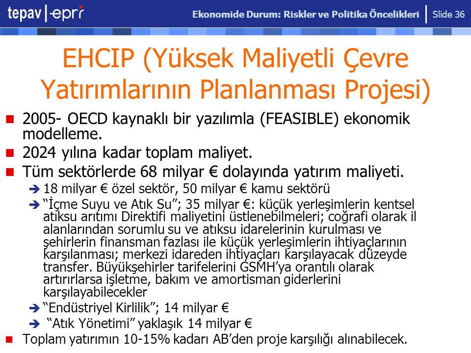 EHCIP (Yüksek Maliyetli Çevre Yatırımlarının Planlanması Projesi)