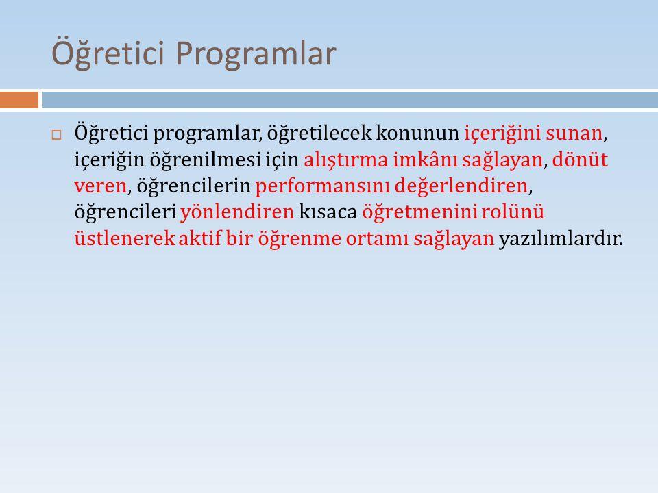 Öğretici Programlar