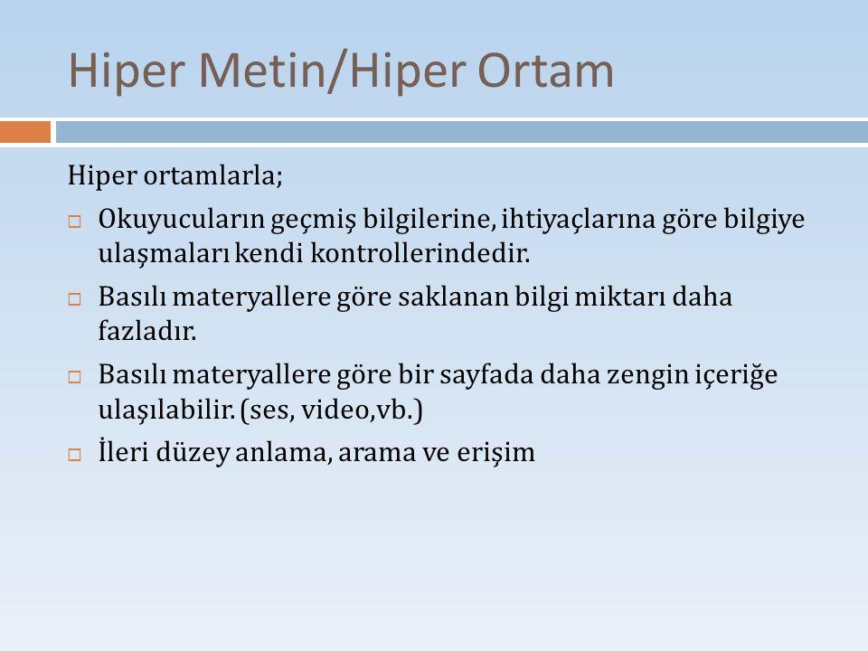 Hiper Metin/Hiper Ortam