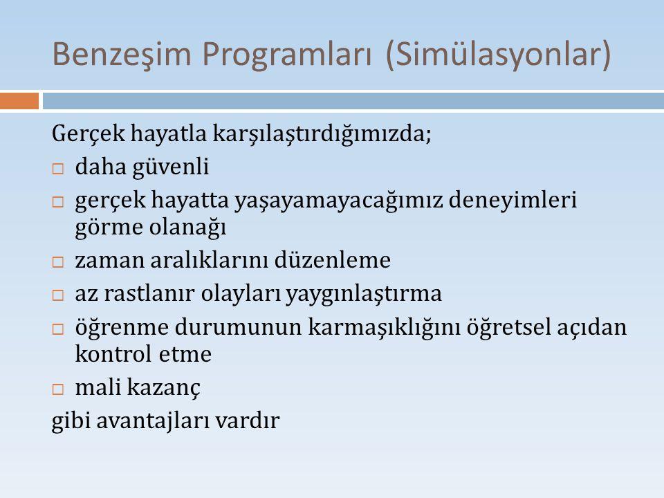Benzeşim Programları (Simülasyonlar)