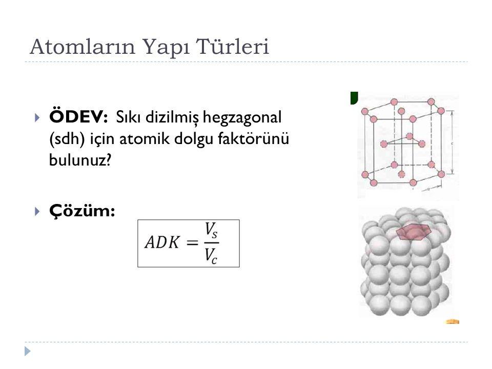 Atomların Yapı Türleri