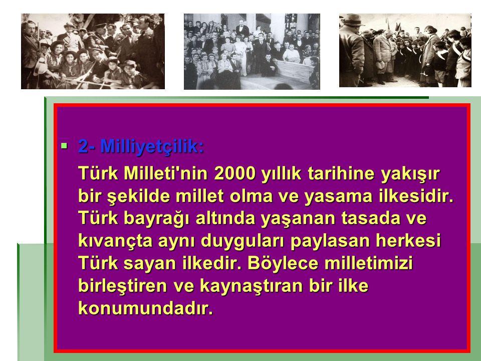 2- Milliyetçilik: