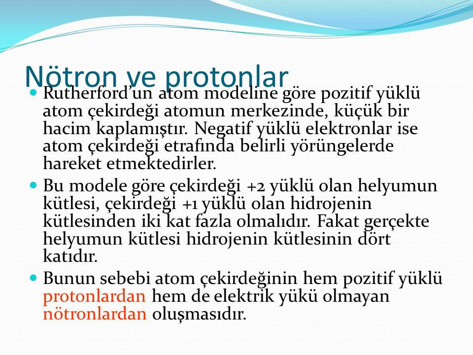 Nötron ve protonlar