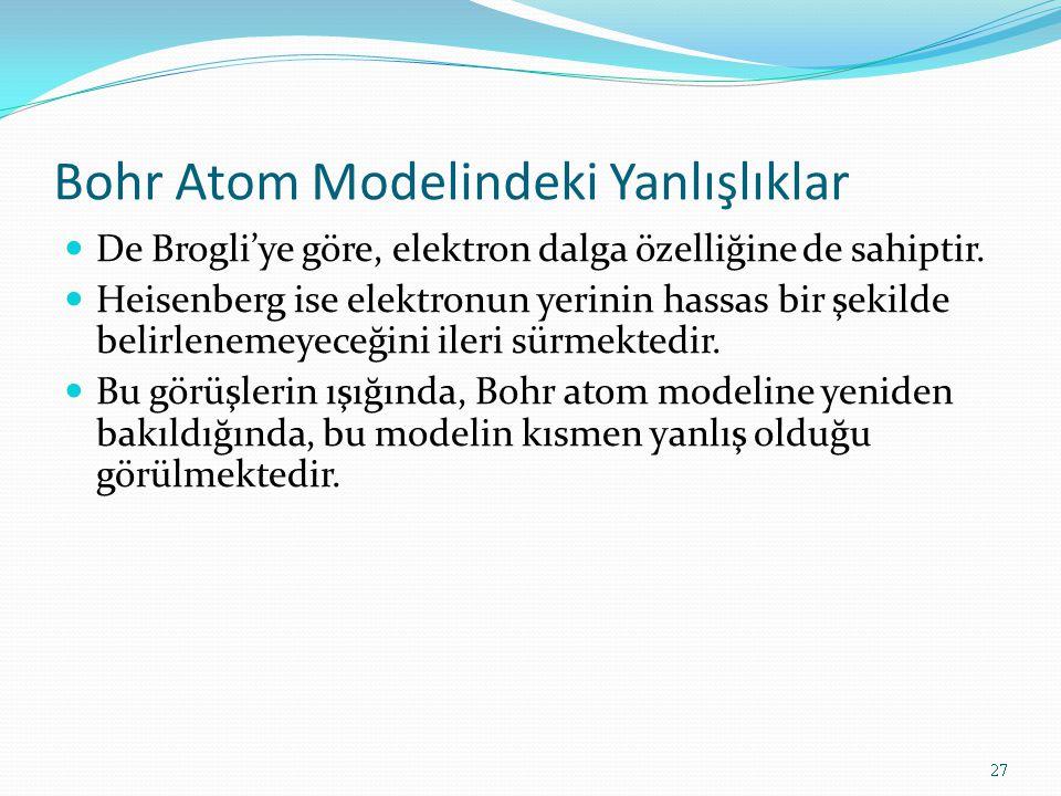 Bohr Atom Modelindeki Yanlışlıklar