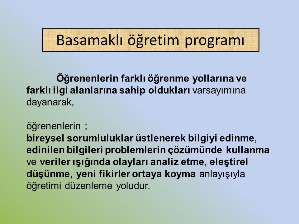 Basamaklı öğretim programı