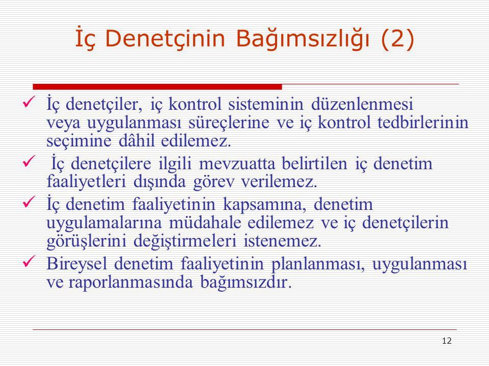 İç Denetçinin Bağımsızlığı (2)