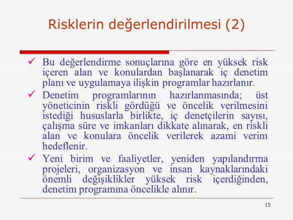 Risklerin değerlendirilmesi (2)