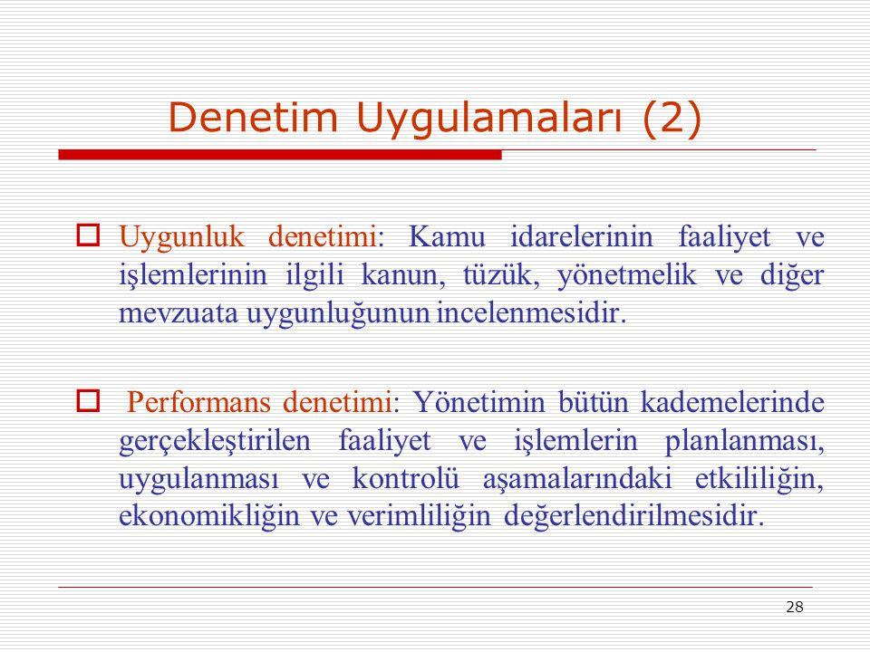 Denetim Uygulamaları (2)