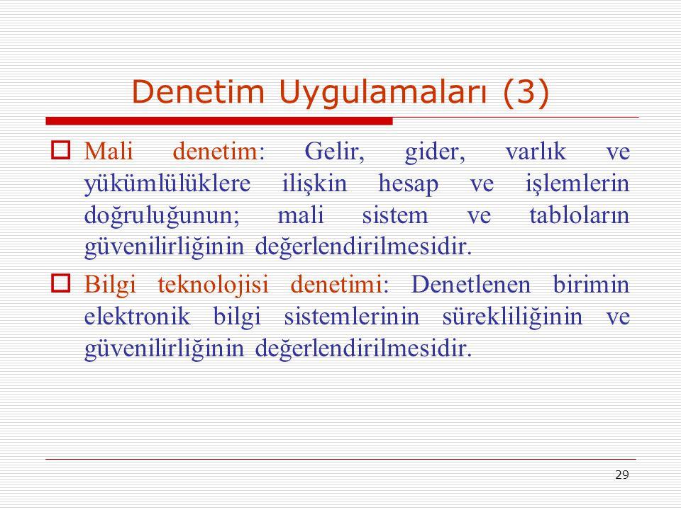 Denetim Uygulamaları (3)