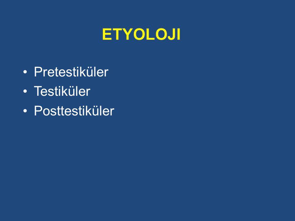 etyoloji Pretestiküler Testiküler Posttestiküler