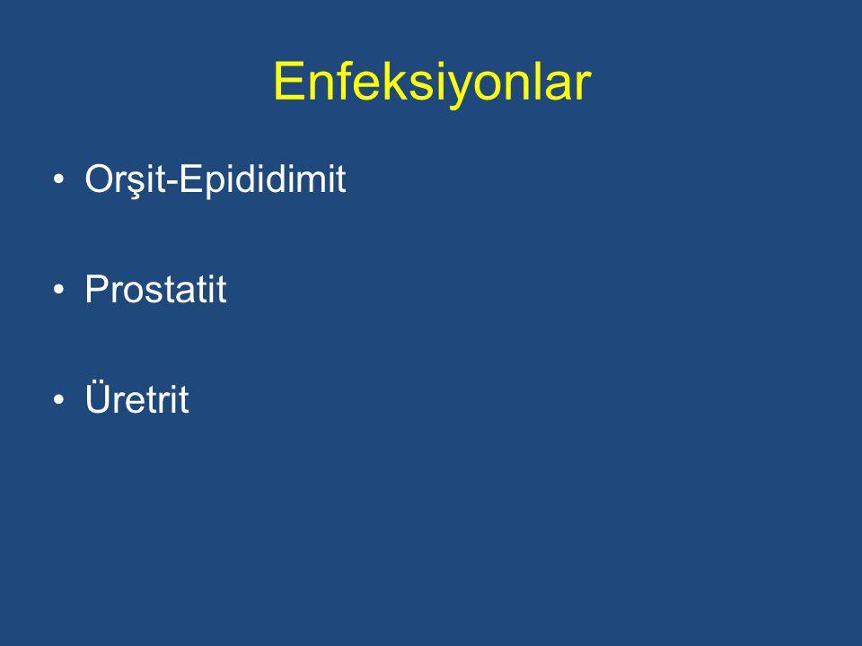 Enfeksiyonlar Orşit-Epididimit Prostatit Üretrit