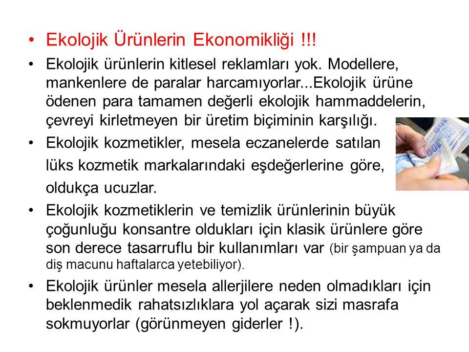 Ekolojik Ürünlerin Ekonomikliği !!!