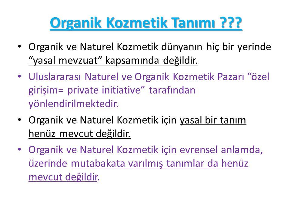 Organik Kozmetik Tanımı