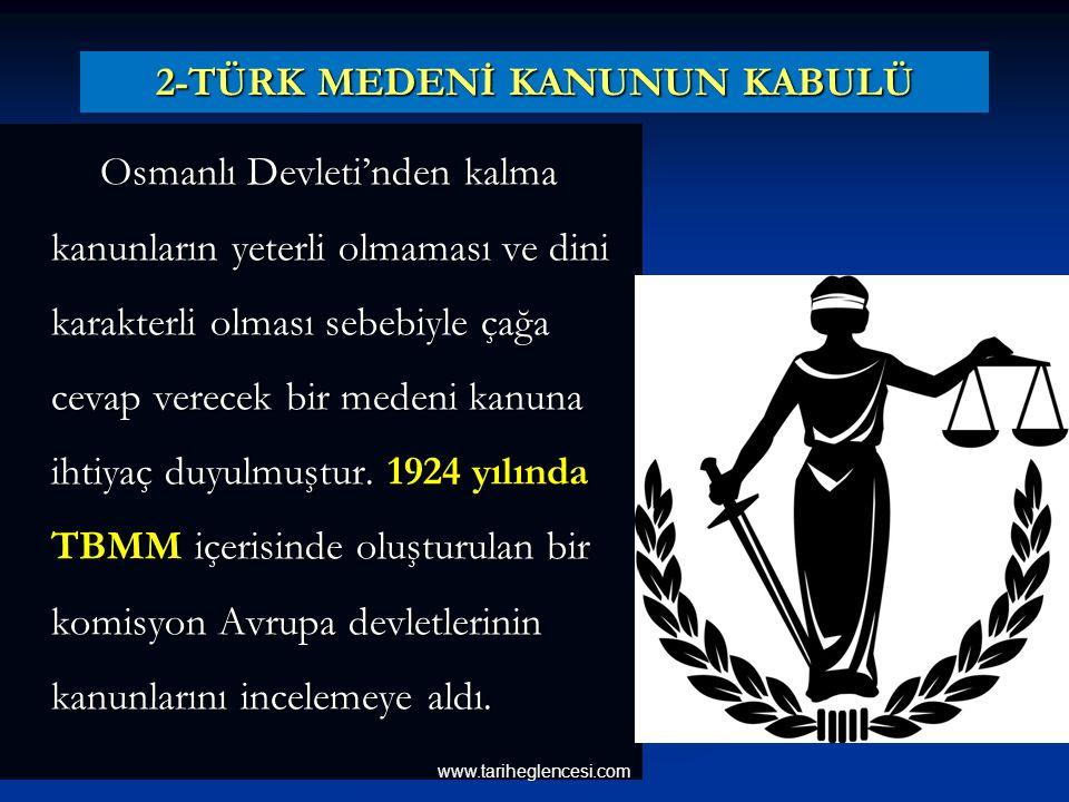 2-TÜRK MEDENİ KANUNUN KABULÜ