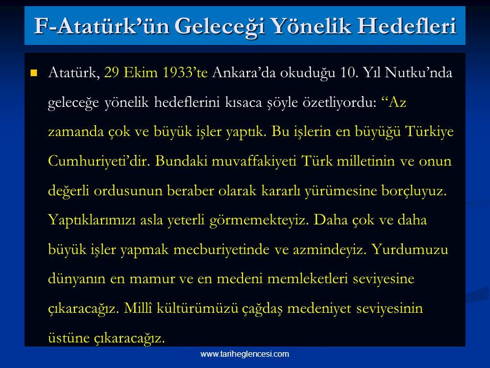 F-Atatürk'ün Geleceği Yönelik Hedefleri