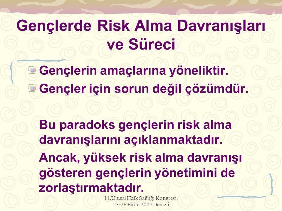 Gençlerde Risk Alma Davranışları ve Süreci