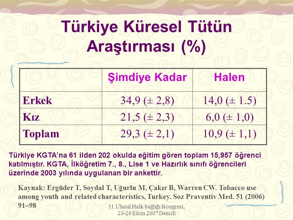 Türkiye Küresel Tütün Araştırması (%)