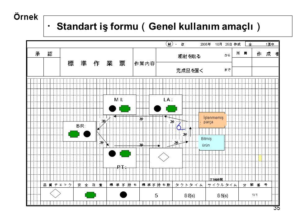 ・Standart iş formu(Genel kullanım amaçlı)