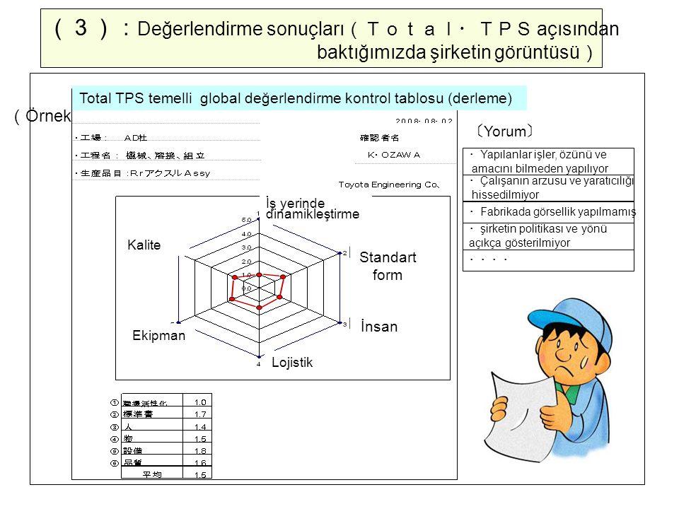 (3):Değerlendirme sonuçları(Total・TPS açısından