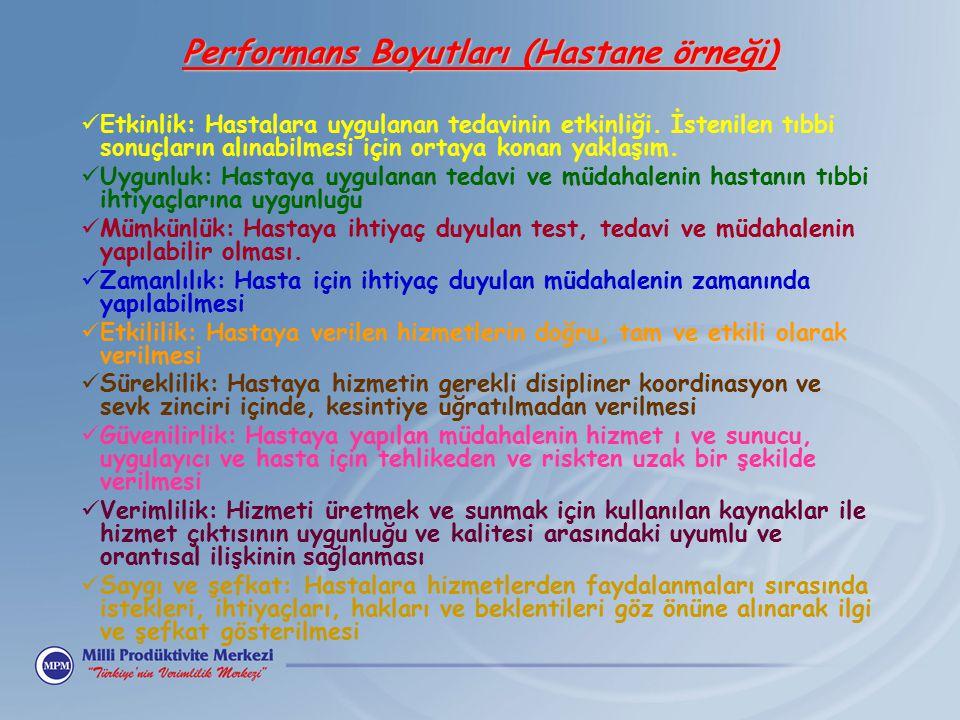Performans Boyutları (Hastane örneği)
