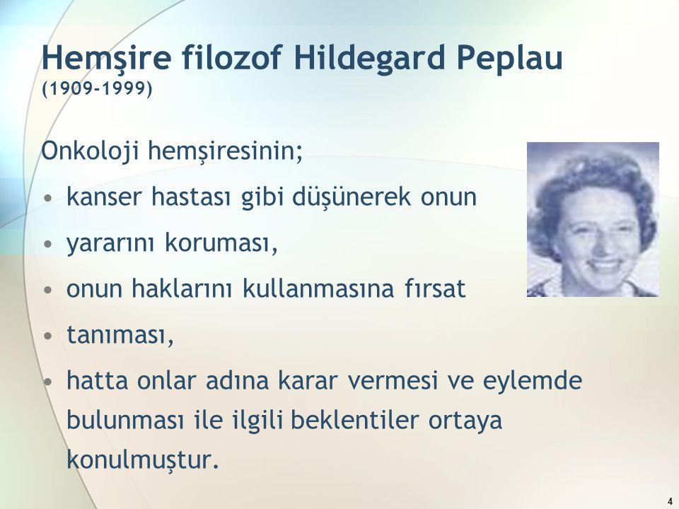 Hemşire filozof Hildegard Peplau (1909-1999)