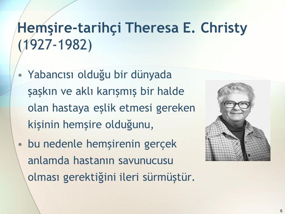 Hemşire-tarihçi Theresa E. Christy (1927-1982)