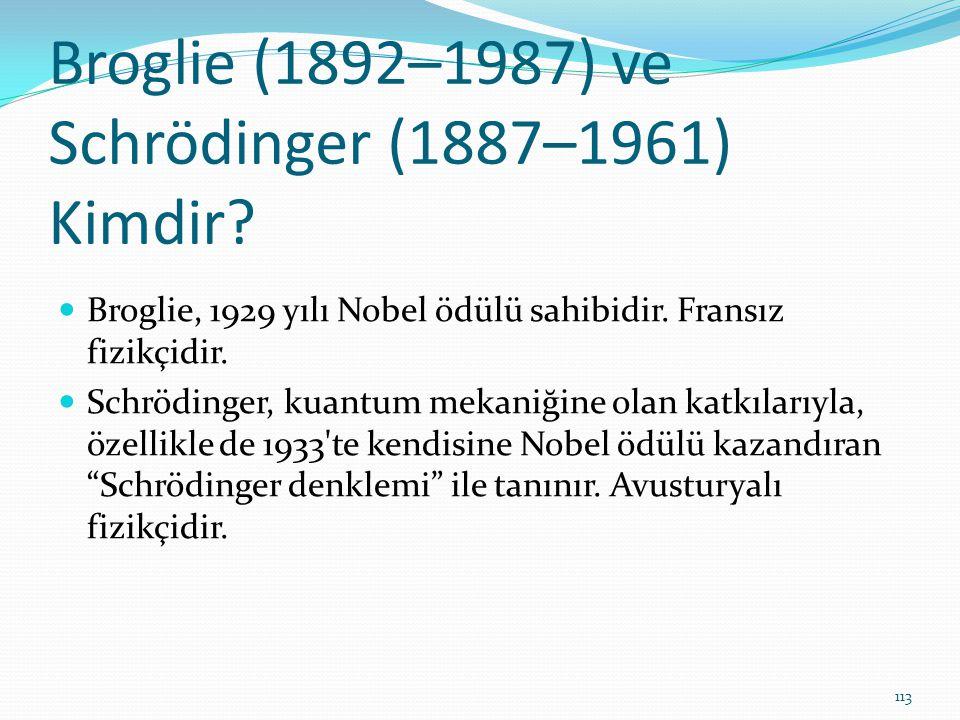 Broglie (1892–1987) ve Schrödinger (1887–1961) Kimdir