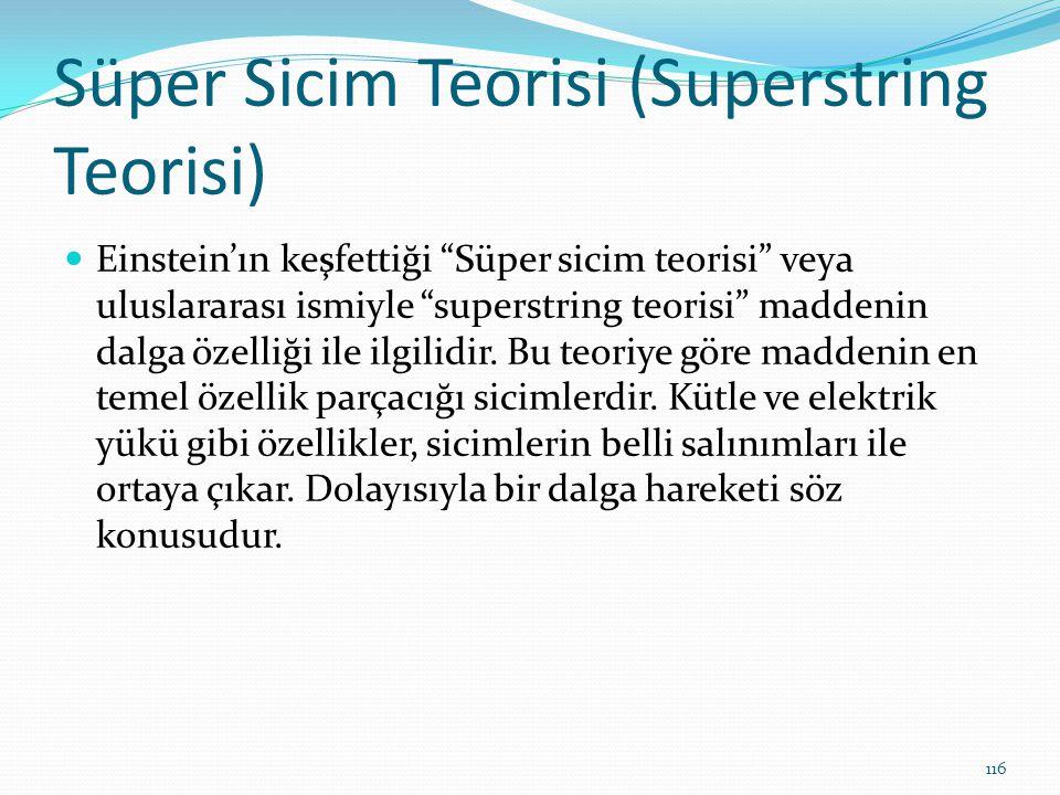 Süper Sicim Teorisi (Superstring Teorisi)