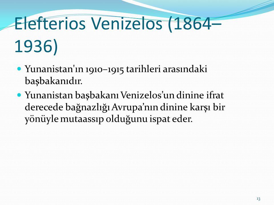 Elefterios Venizelos (1864–1936)