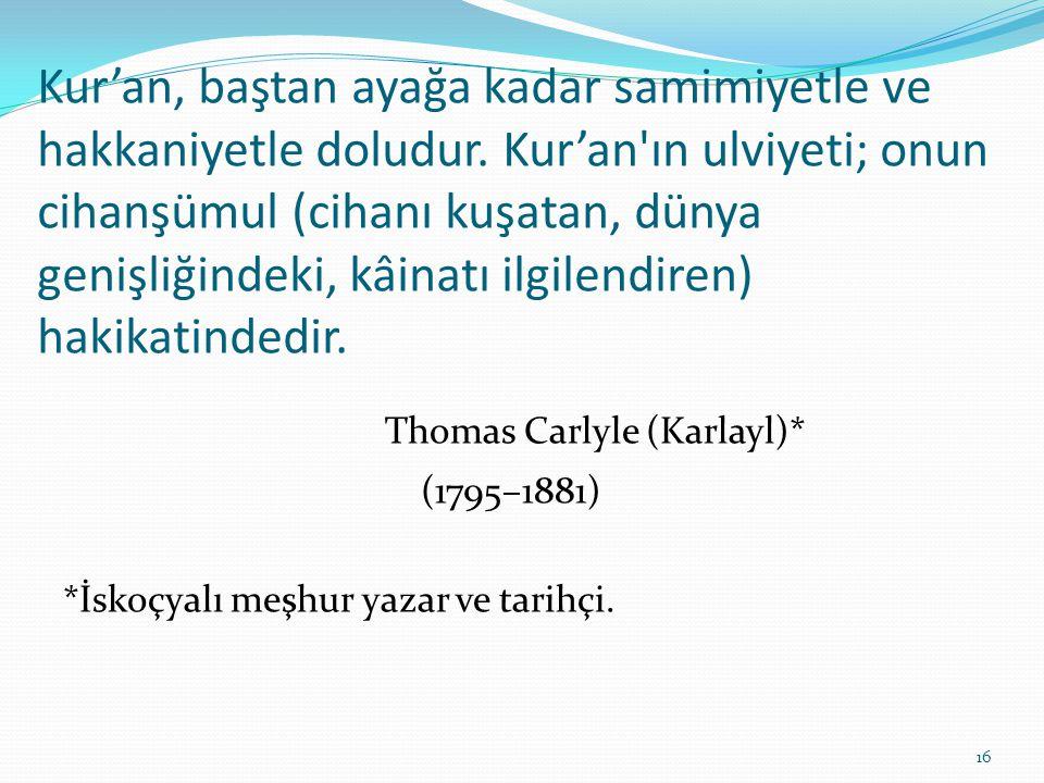 Thomas Carlyle (Karlayl)*