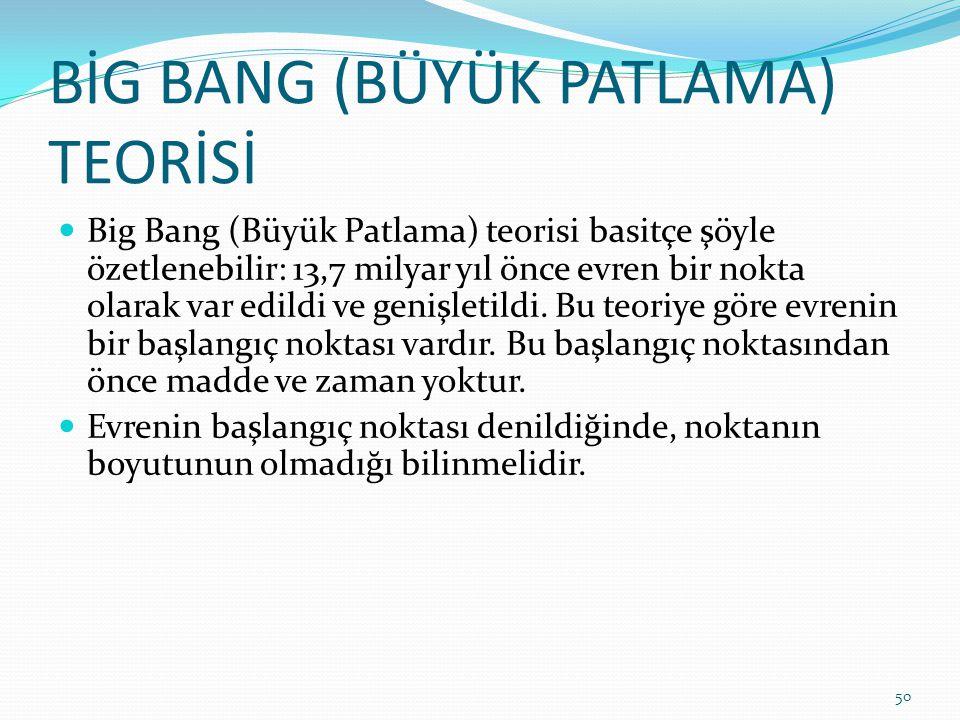 BİG BANG (BÜYÜK PATLAMA) TEORİSİ