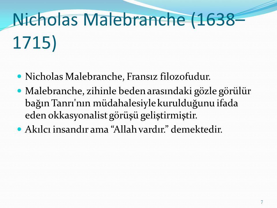 Nicholas Malebranche (1638–1715)