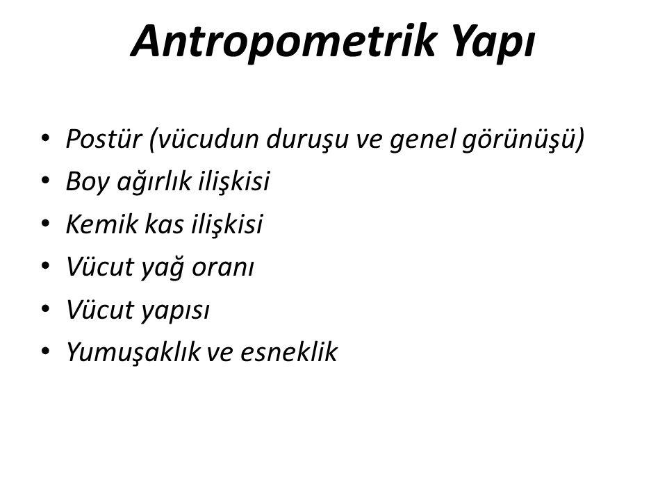 Antropometrik Yapı Postür (vücudun duruşu ve genel görünüşü)