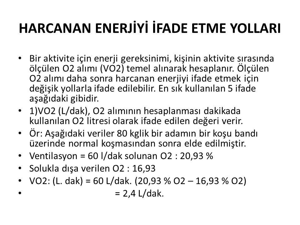HARCANAN ENERJİYİ İFADE ETME YOLLARI