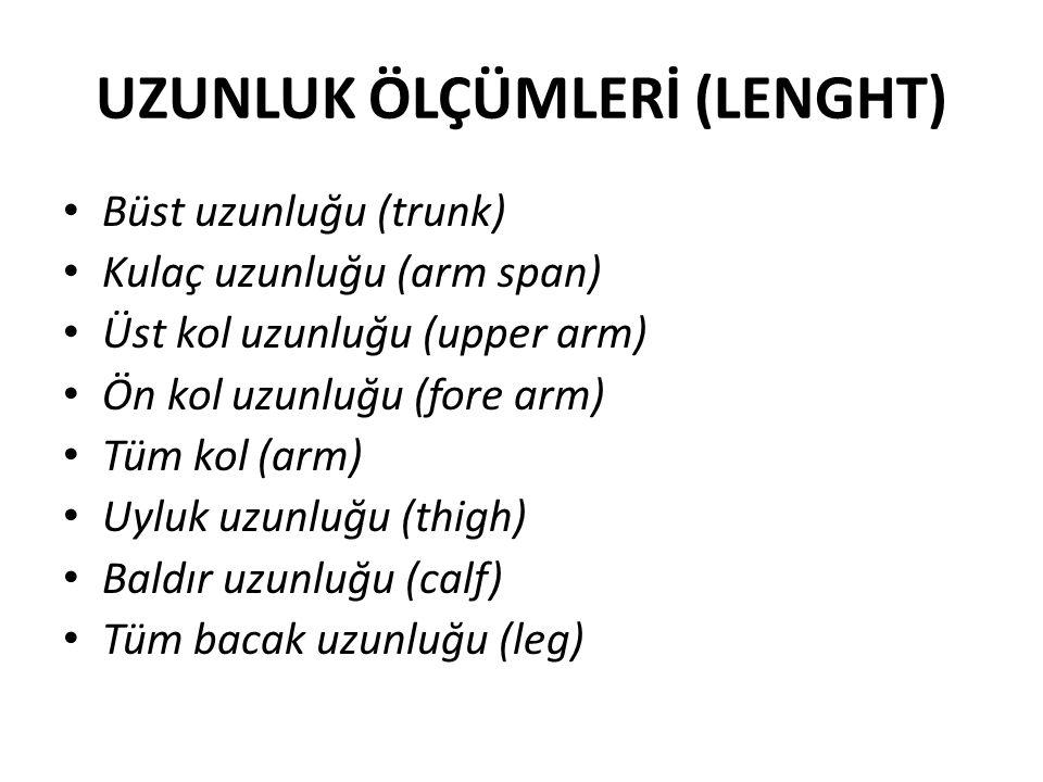 UZUNLUK ÖLÇÜMLERİ (LENGHT)