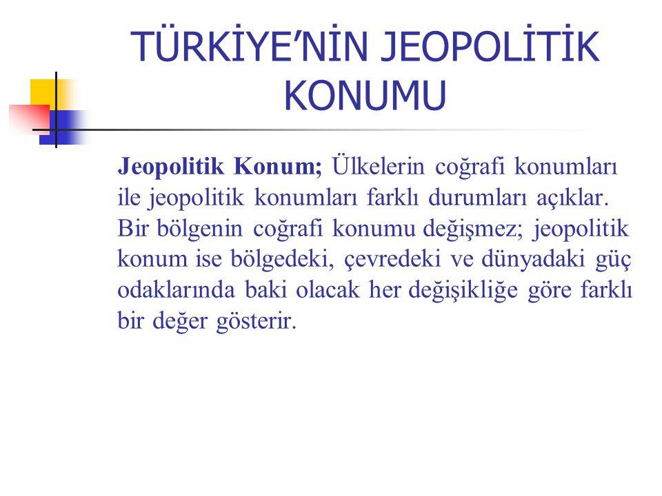 TÜRKİYE'NİN JEOPOLİTİK KONUMU