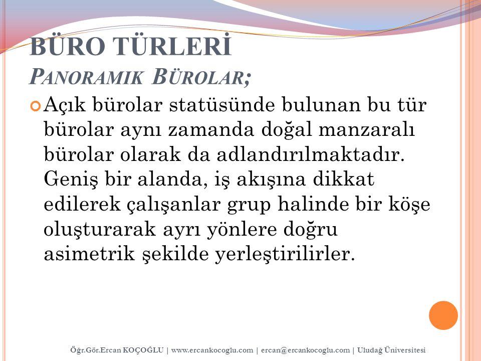BÜRO TÜRLERİ Panoramik Bürolar;