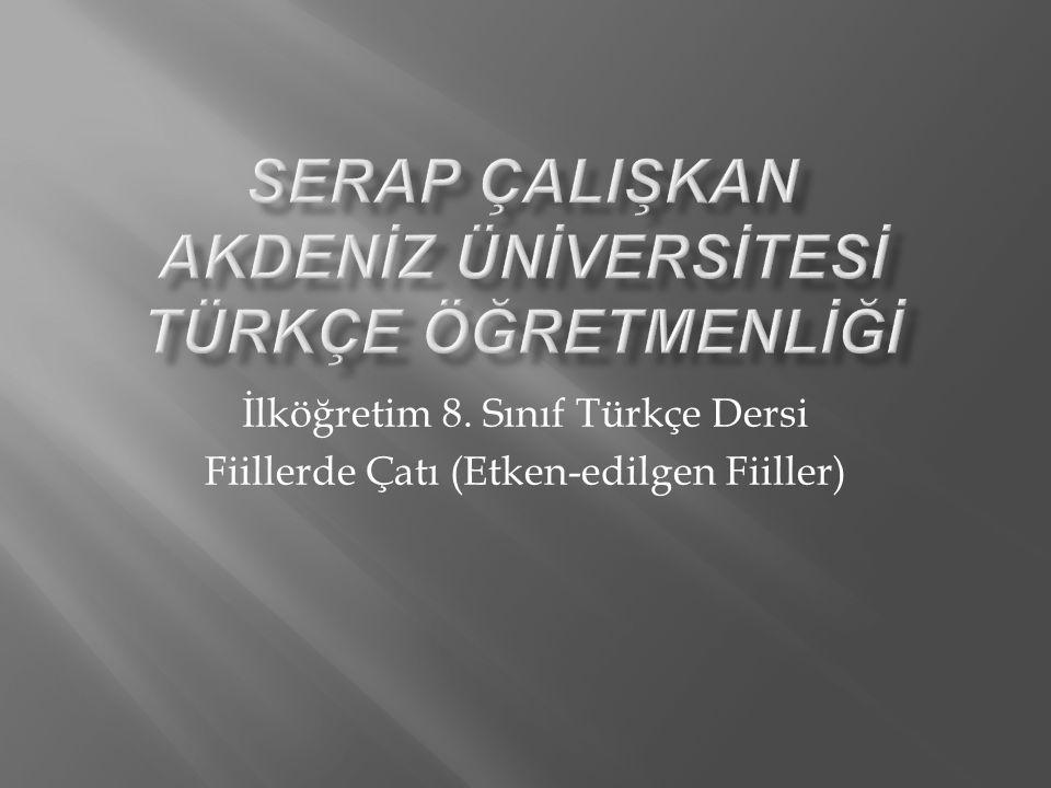 Serap çalIşkan akdenİz ünİversİtesİ türkçe öğretmenlİğİ